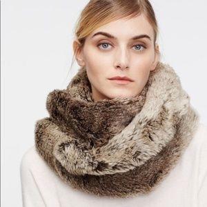 Ann Taylor  Cool Brown/Champagne Tips Faux Fur